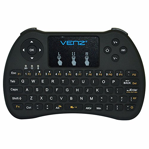 VENZ 2.4GHz Mini Wireless Keyboard with Touchpad Mouse an...