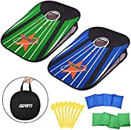 GRM 3x2ft Collapsible Cornhole Set - Portable Corn Hole Boards with 8 Bean Bags and Carrying Bag, Outdoor Yard