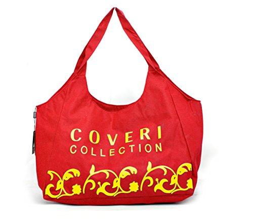 Gyoiamea a181 - Bolso al hombro para mujer Amarillo amarillo larghezza:56cm altezza:37cm profondità:22cm Rojo