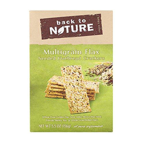 (Back To Nature Multigrain Flax Seeded Flatbread Crackers - Case of 6-5.5 oz.)