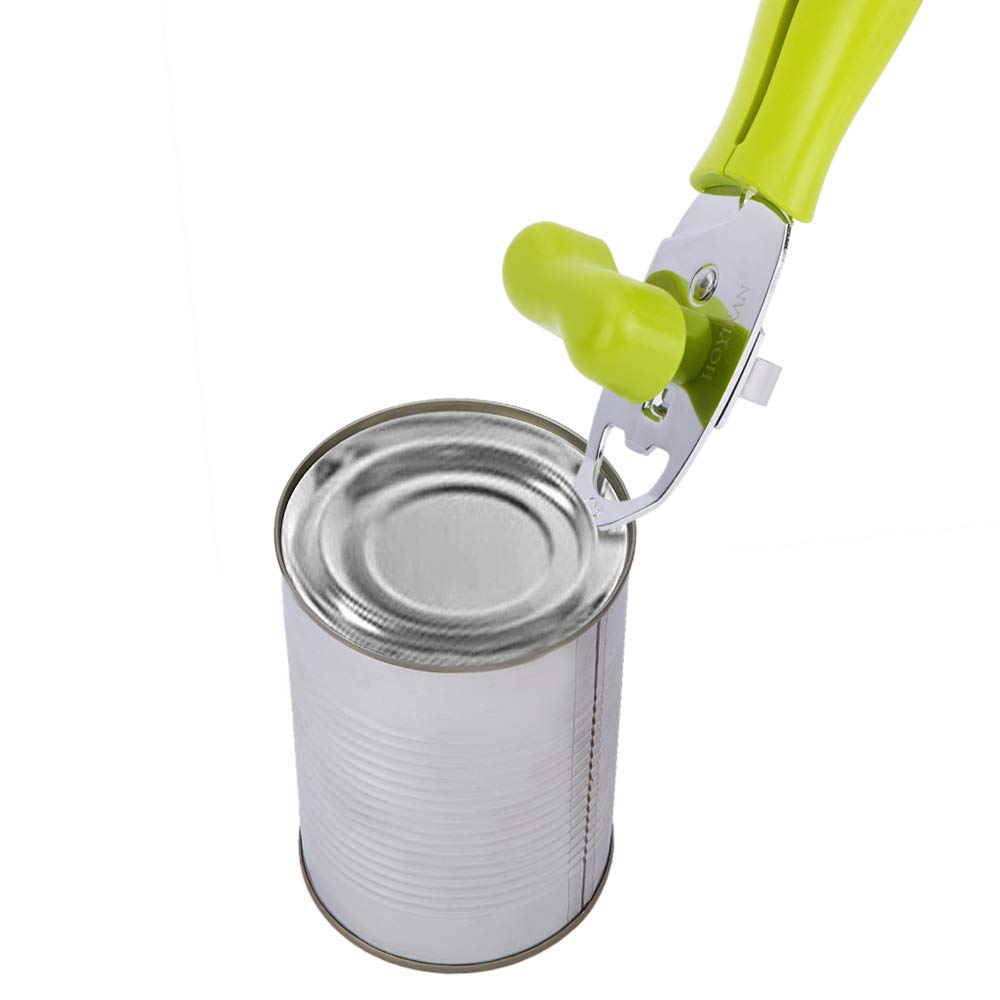 HOYIRAN Manual Good Grips Can Opener,Food-Grade Carbon-Steel Blade, Tin Can/Bottle/Can Opener for Kitchen, Restaurant, Camping by HOYIRAN (Image #5)