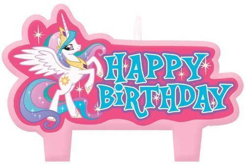 My Little Pony Mini Molded Candles 4ct Children, Kids, Game (Pony Candles)