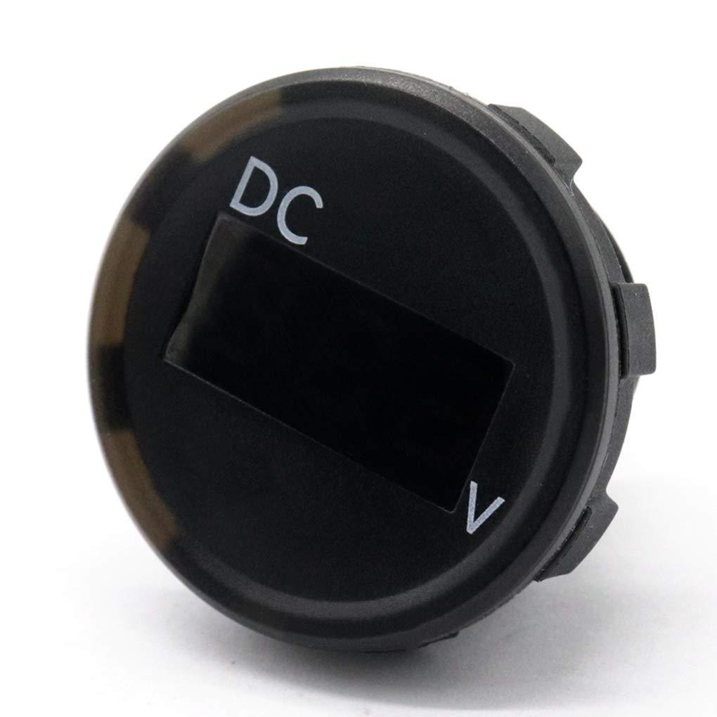 Uokoki Probador de Voltaje Automotive Impermeable 2.5-30V Rango de medici/ón del Barco del Coche RV Voltaje Digital Medidor IP67