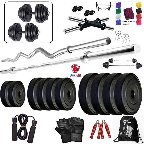 BODYFIT Deluxe 24kg 4 Rods Exercise Sets Combo Strength Training Home Gym Set Kit. Price & Reviews