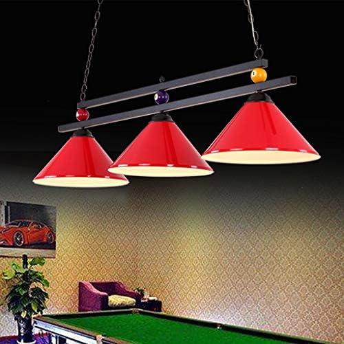 Lámpara de billar ligera de mesa de billar de diseño de bola de metal para la fiesta de la cerveza en la sala de juegos, araña industrial con 3 pantallas, apta para