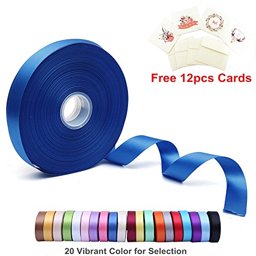 Learn More About Double Face Satin Ribbon 1 Inch Wide x 100 Yard Roll (300 FT Spool) with Free 12 Gr...