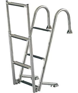 Badeleiter Aluminium 2 3 oder 4 Stufen Bootsleiter B= 35 cm