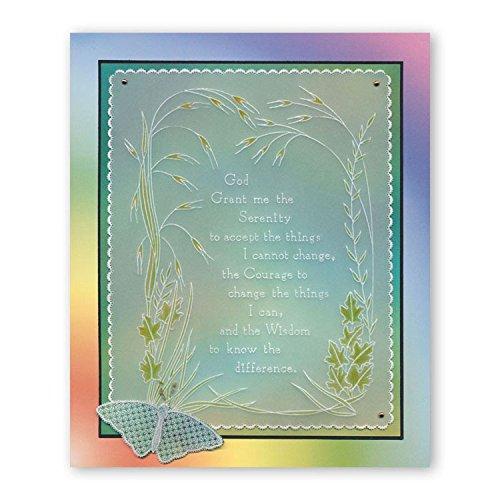 Groovi Plate ~ Serenity Prayer A5 Template GRO40519