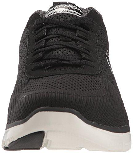 Golden Blanco Advantage Hombre Negro Skechers Flex 2 Point Zapatillas 0 Szx55Iqanw