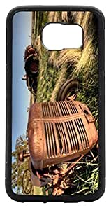 Rikki KnightTM Antique Farm Tractor Close-up Design Samsung? Galaxy S6 Case Cover (Black Rubber with front Bumper Protection) for Samsung Galaxy S5