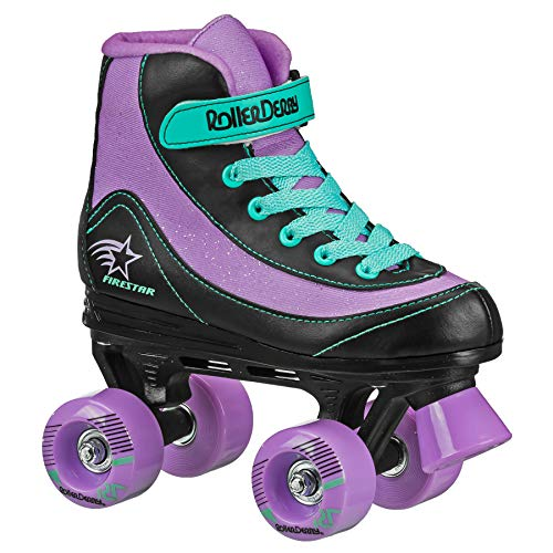 FireStar Youth Girl's Roller Skate (Purple/Black/Mint, 2)