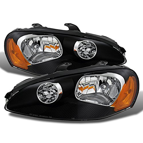 ACANII - For Black 2003-2005 Dodge Stratus Coupe Headlights Headlamps Replacement Driver + Passenger Side ()