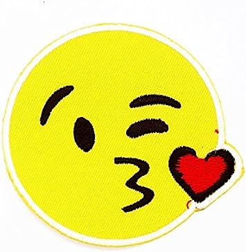 Rabana cara sonriente Emoji Beso en la mejilla Cartoon Kids niños ...