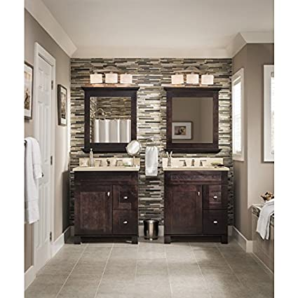 allen + roth 3-Light Merington Brushed Nickel Standard Bathroom ...