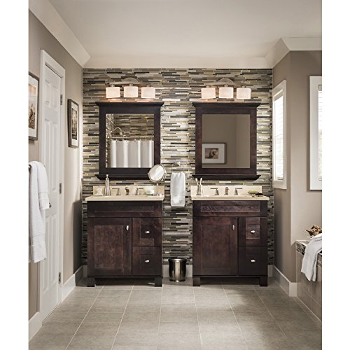 Allen + Roth 3 Light Merington Brushed Nickel Standard Bathroom Vanity  Light     Amazon.com