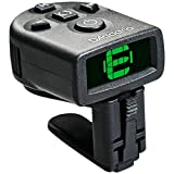 D'Addario NS Micro Clip-On Tuner – Highly Precise, Easy to Read, Clip-On Tuner for Guitar, Mandolin, Bass and More – Wide Calibration Range and Metronome –Compact Low-Profile Design