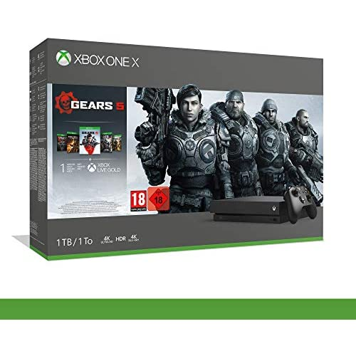 chollos oferta descuentos barato Xbox One X Bundle Gears of War 5 Inclusi Gears of War 2 3 4 14 Days Live Gold 1m Gamepass Importaci