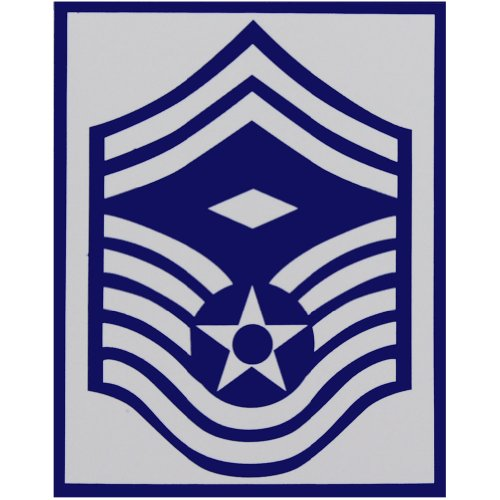 (Air Force E-8 Senior Master Sergeant with 1st Sgt. Diamond Sticker)