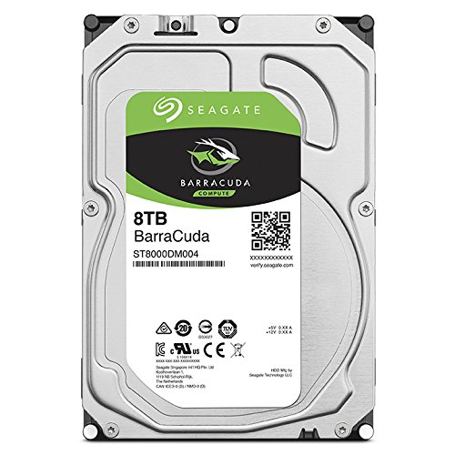 Seagate 8TB BarraCuda SATA 6Gb/s 256MB Cache 3.5-Inch Internal Hard Drive (ST8000DM004)