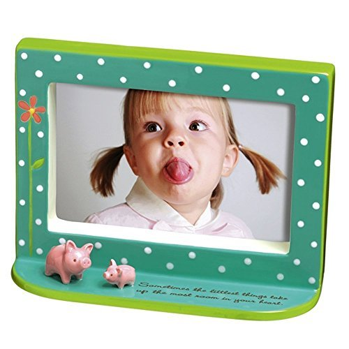 Baby & Kids 4 X 6 Picture Frame with Pig Figurines