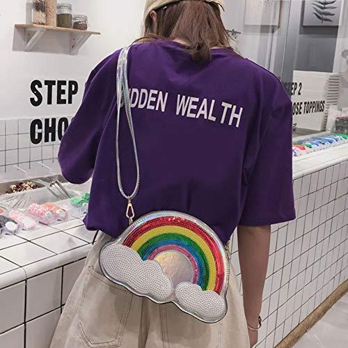 Plata Bolso Powlance para mujer hombro al PH8qx14w