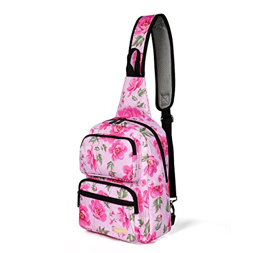 ZCL Girls Floral Crossbody Backpack, Hiking Travel Crossbody