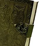AOL Genuine Leather & Handmade Paper Diary Notebook Journal For Personal Use or Gift Size 5x7'' (Olive Green) Antique Handmade Leather Bound Daily Notepad For Men & Women