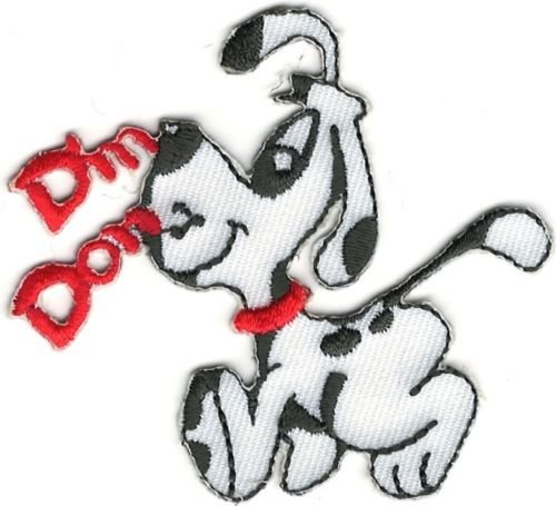 Dalmatian Embroidery (Cartoon Din Don Dalmatian Dog Embroidery Iron On Sew On Patch)