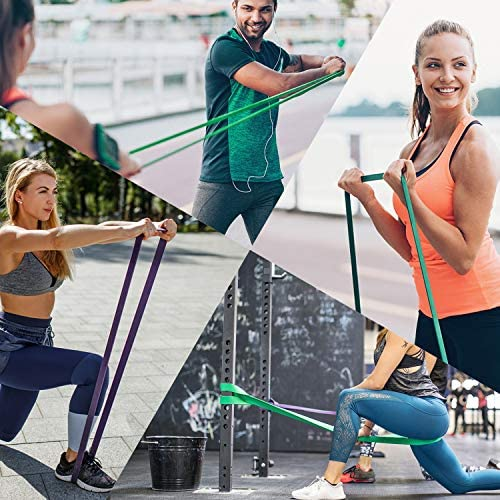 ROSAPOAR Pull Up Resistance Bands Assist Exercise Workout Band Set for Fitness Strength Weightlifting and Powerlifting- Stretch Mobility Assistance Bands at Home Gym/Crossfit Training