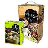 DAMTUH Breakfast Meal Replacement Energy Drink Set, Walnut Almond Adlay Tea 50 Sticks + Roast Grain with Yam Powder Tea 12 Sticks