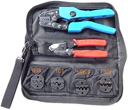 QUETAZHI Crimping Tool Mini Oxford Combination Tools Crimping Pliers Kits with Hand Crimping Tools and Replaceable Die Sets Pliers QU819 (Size : B)