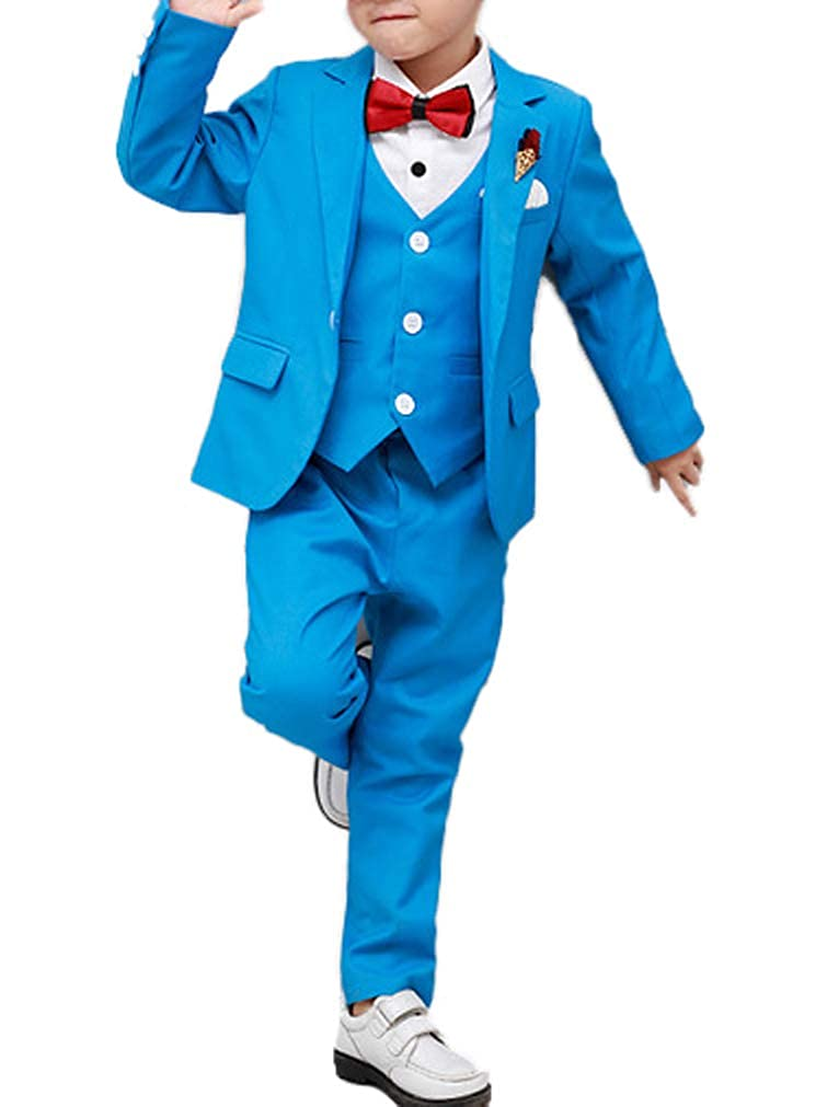 Toddler and Boys 4 Colors White Formal Dress Suits Set Tuxedo for Wedding Christmas