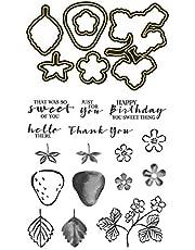 Stamps and Dies Set for Card Making Die Cuts Silicone Clear Seal Stamp Set for Card Making Decoration DIY Scrapbooking Paper Craft Album Supplies