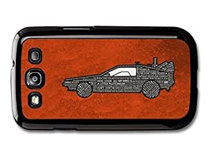 AMAF ? Accessories Back To The Future Car Marty McFly Doc Quotes Orange Background case for Samsung Galaxy S3