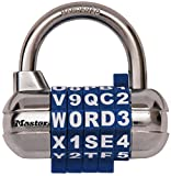 Master Lock 1534DBLU Combination Padlock with Chrome Body and Steel Shackle, Blue