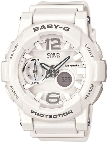 Casio Baby-G G-lide Tide Graph Surfer White Watch BGA180-7B1