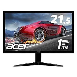 Acerゲーミングモニター KG221QAbmix 21.5インチ TN 非光沢 1920x1080 フルHD 16:9 200cd 75Hz 1ms HDMI
