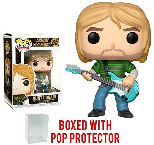 Funko Pop! Rocks: Nirvana - Kurt Cobain (Teen Spirit) Vinyl Figure (Bundled with Pop BOX PROTECTOR CASE)