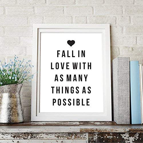 Amazon.com: Fall In Love With As Many Things As Possible