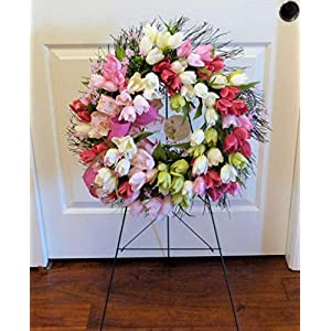 Mother's Day Cemetery Wreath, Tulip Cemetery Wreath, Cemetery Wreath with Tulips 35