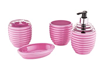 freehome Badezimmer-Accessoire-Set (rosa)