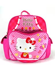 Small Size Pink Butterflies and Bees Hello Kitty Backpack - Hello Kitty Bookbag