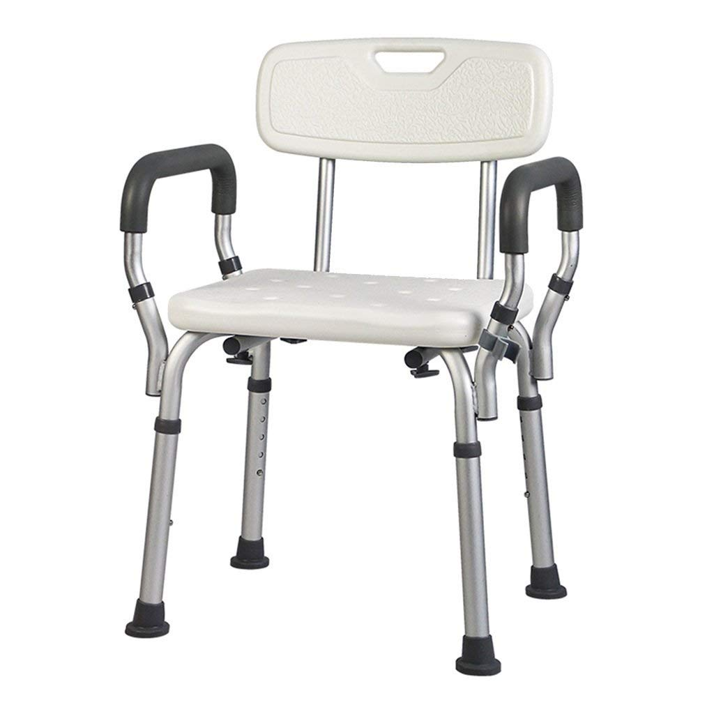 Transfer Shower Chair Bench with Handle Shower Stool Non-Slip for Disabled Person Bathing Aid Seat and Backrest