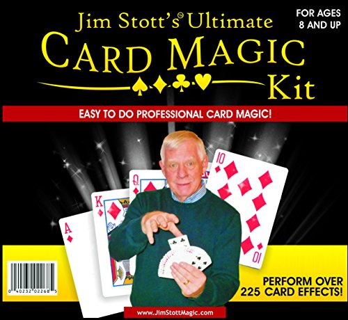 Jim Stott's 'Ultimate Card Magic Kit, Magic Tricks Set for Adults, Svengali Card Deck, Phantom Marked Deck, The Wizard Stripper Deck, Vanishing Card Case, The Magic Card Box, and More ()