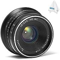 7artisans 25mm F1.8 Manual Focus Prime Fixed Lens for Sony E Mount A7 A7II A7R A7RII A7S A6500,etc (Black)