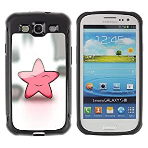 LASTONE PHONE CASE / Suave Silicona Caso Carcasa de Caucho Funda para Samsung Galaxy S3 I9300 / Star Pink Cute Friendly Art Sky Dream Fairytale