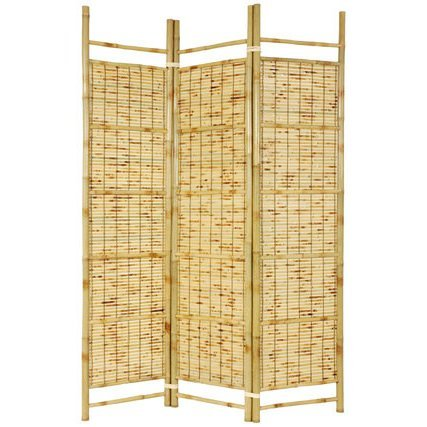 Split Bamboo Shade - Oriental Furniture 6 ft. Tall Burnt Bamboo Shoji Screen