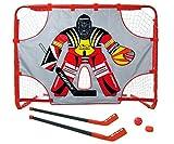 HUDORA Hockey Set Street mit Torwand, rot, 150 x 110 x 60 cm, 57852
