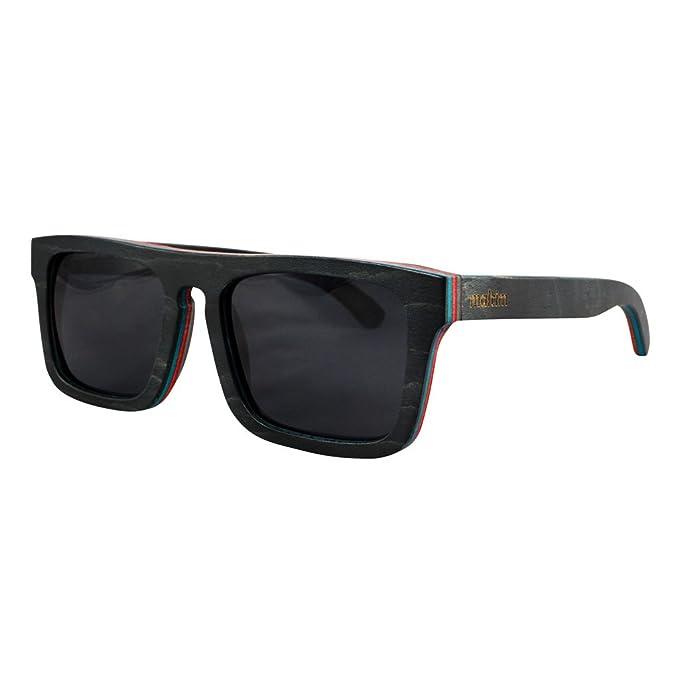 Gafas de Sol de Madera de Arce - Estilo Wayfarer - 100 ...