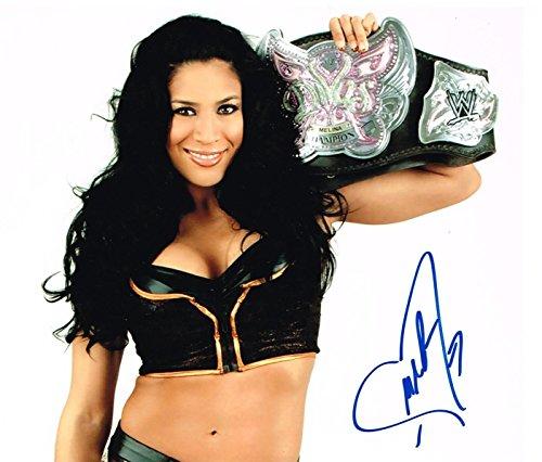WWE DIVA MELINA AUTOGRAPHED 8X10 PHOTO AUTO SIGNED AUTOGRAPH CHAMPIONSHIP BELT